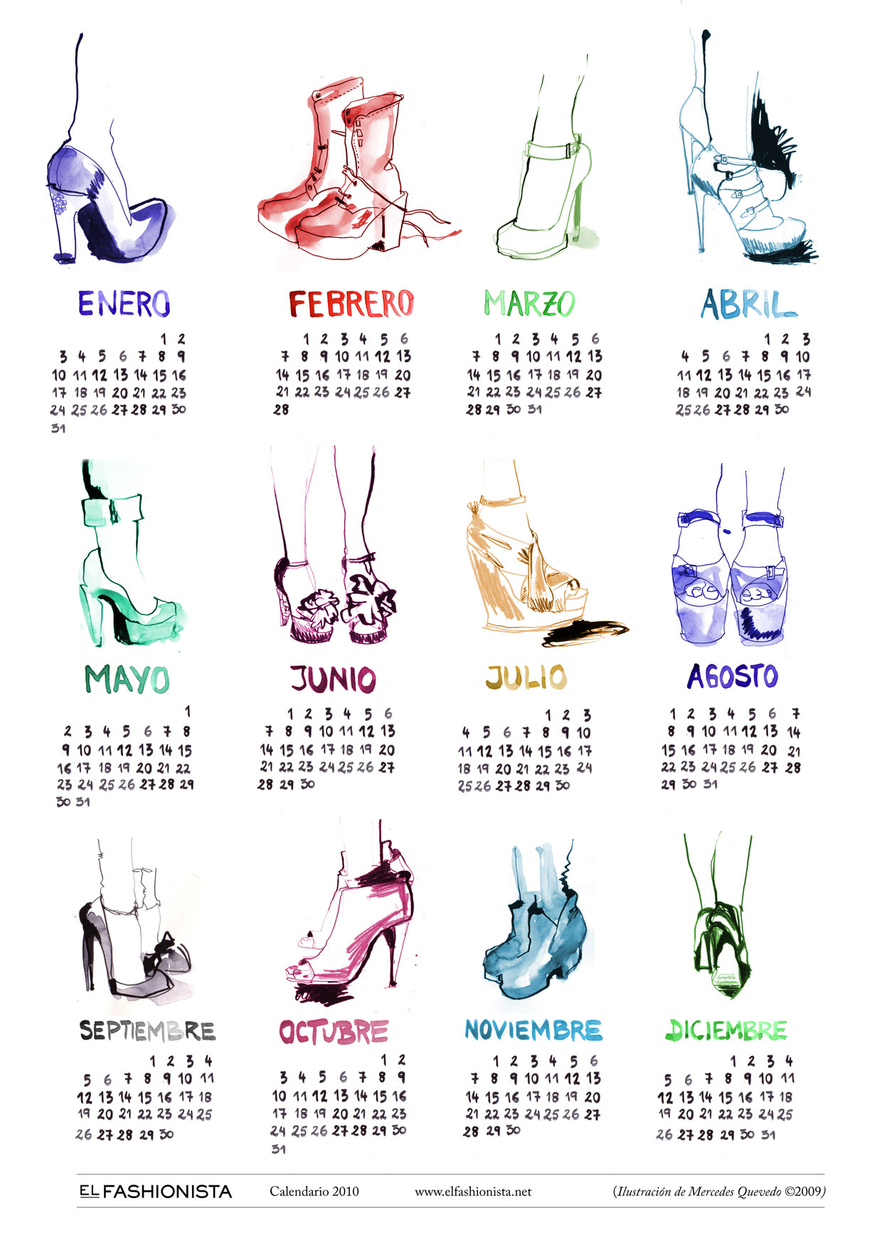 Calendario 2010 by elfashionista.net