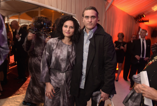 Actors Rain Phoenix (L) and Joaquin Phoenix