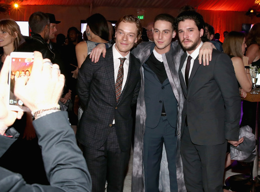 Alfie Allen and  Kit Harington ( CN cape)